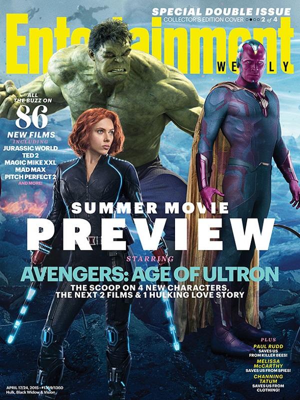Avengers: Age of Utron - Black Widow, Hulk, y The Vision